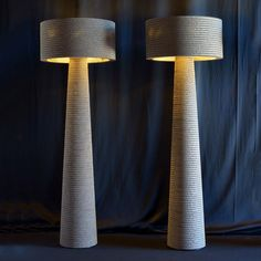 Cardboard Lamp-Layer offers softer, rounded lines, in a colour called Havana. All feature low-energy bulbs. Created in collaboration with Fabbian illuminazione and P-One Interior Lighting, Lighting Design, Arch Interior, Creative Lamps, I Love Lamp, Simple Furniture, Light Crafts, Lamp Bases, Lamp Design