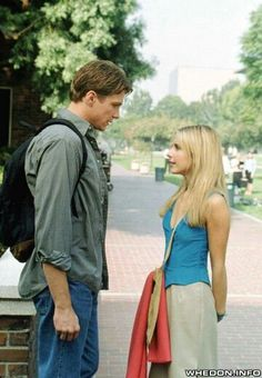 * m. Buffy and Riley...I wasn't crazy about Riley.