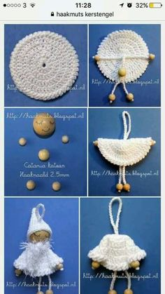 Items similar to Doll brooch on Etsy - Her Crochet Crochet Diy, Crochet Crafts, Crochet Dolls, Crochet Projects, Sewing Crafts, Crochet Christmas Ornaments, Christmas Crochet Patterns, Christmas Angels, Xmas Elf