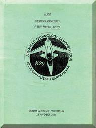 Grumman X29A Emergency Procedures  Flight - Flight Control System  Manual , 1984