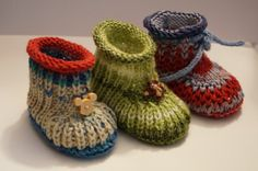 Babyschuhe stricken - DIY-Baby-Booties ★