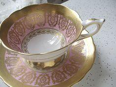 vintage English tea cup and saucer set Royal by ShoponSherman #etsy