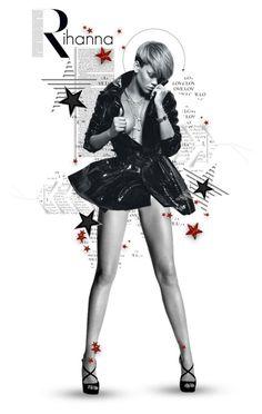 """So shine bright tonight - Rihanna Diamonds"" by girlinthebigbox ❤ liked on Polyvore featuring art"