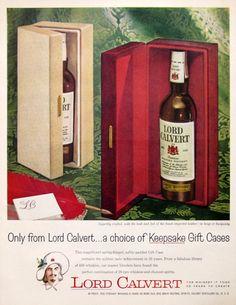 1959 Lord Calvert ad from #RetroReveries