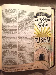 He is RISEN! Just as He said!