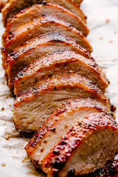 Tender and Juicy Pork Fillet Roast Recipe – Very easy and DELICIOUS recipe for a juicy, fork tender, and flavorful Honey Garlic Glazed Pork Roast. Rub with spices, smother with glaze, and roast until done! Best Pork Loin Recipe, Pork Loin Recipes Oven, Baked Pork Loin, Slow Cooker Pork Loin, Pork Fillet, Rub For Pork Loin, Pork Loin Marinade, Pork Sirloin Roast, Pork Rub