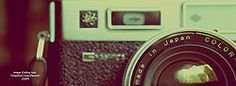 Vintage camera for photographer or photography lover  for facebook timeline cover