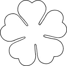 Flower Love five petal template by @BAJ, A flower template for a five petal flower with heart shaped petals., on @openclipart