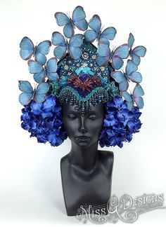 Crown of Butterflies Headdress by MissGDesignsShop on Etsy