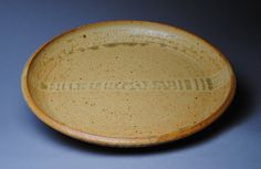 Clay Plate Serving  Large Stoneware Yellow by JohnMcCoyPottery, $85.00
