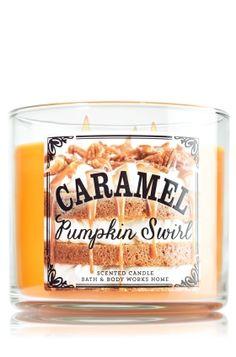 Caramel Pumpkin Swirl 3-Wick Candle - Slatkin & Co. - Bath & Body Works