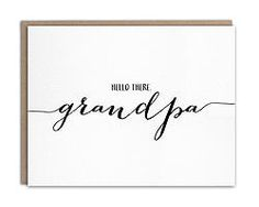 Pregnancy Announcement for Grandpa -- let your dad know he's going to be a Grandpa!   Pregnancy reveal card for dad by WrittenInDetail