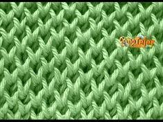 Ponto de Trico Alvéolos - Aprendendo Tricô Manual - YouTube