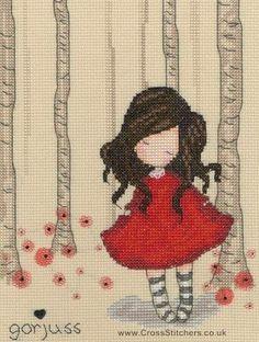 Gorjuss - Poppy Wood - Cross Stitch Kit from Bothy Threads