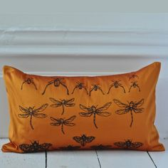 Archive Cushion - Burnt Orange {Available in other colours or why not commission a bespoke colour} Pin Cushions, Pillows, Hand Printed Fabric, Colourful Cushions, Best Pillow, Living Room Decor, Pillow Cases, Colours, Archive