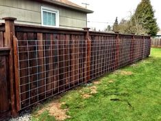 Aloha Builders - pre-made cattle guard mounted on fence for climbing plants to grow on.  Keeps the plants off the fence while still providing support