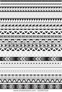 Maori brushes on white stock vector (royalty free) 525407524 - Search Maori Bru. - Maori brushes on white stock vector (royalty free) 525407524 – Search Maori Brushes Set White-St - Band Tattoo Designs, Armband Tattoo Design, Polynesian Tattoo Designs, Maori Tattoo Designs, Tattoo Motive, Tattoo Sleeve Designs, Cross Tattoo For Men, Leg Tattoo Men, Sleeve Tattoos For Women