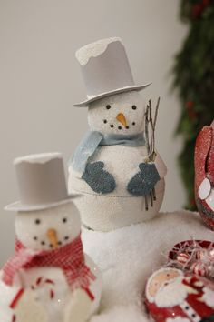 Snowmen from The Purl Bee
