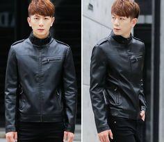 Giá - 349.000đ: Áo khoác da thái màu đen - B4689