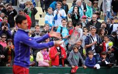 Novak Djokovic and fans