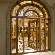 wood & wrought iron... #Grand Mansions #Luxury Homes