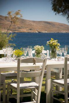 #rusticweddingideas #chamomile #greekislandwedding See more here http://www.love4wed.com/greek-island-wedding-kea/