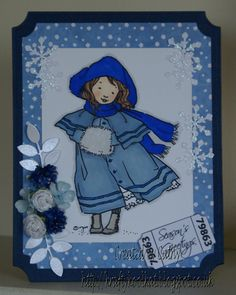 Winifred - A little girl vintage image.  For details of products used to make this card please go to my blog:- http://kraftykoolkat.blogspot.co.uk/2015/04/winifred.html Thank you Hugs Cathy xxxx