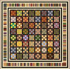 I love quilts and this one has nice colors and design!