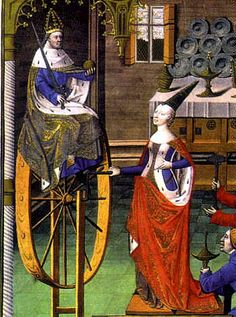 Here is a Wheel in a French manuscript form 1470. Yeah, but is this really a spinning wheel?