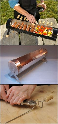 Do you often organize or host a grilling party at home? Why not add a Yakitori grill to your outdoor cooking arsenal! You can opt to buy from the store but you can also opt to DIY one! This DIY project is easy as it doesn't involve any welding. Diy Grill, Grill Party, Barbecue Grill, Grilling, Outdoor Oven, Outdoor Cooking, Parrilla Exterior, Smoke Grill, Wie Macht Man