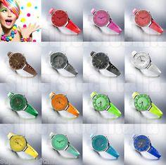 Orologio Donna UP Color Colorato Fluo Plastica Silicone Stile Hoops Moda Estate…