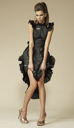 A dress produced from an obsolete Speedo LZR Racer swimsuit, which will be available in Selfridges from March