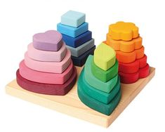 Grimm's Stacking Tower Various Shapes - Honeybee Toys