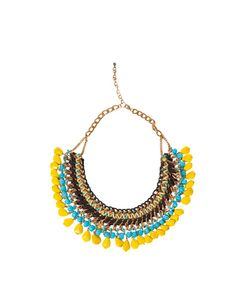 CHAIN, CORD AND COLOURED STONE NECKLACE - Accessories - Woman - New collection - ZARA Turkey