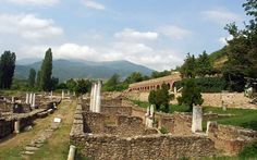 Heraclea in Bitola, Macedonia ( I have been here).  An ancient city that is still being uncovered.