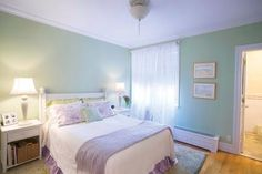 The bathroom door on the right does not cross the bed which is good. #FengShui #bedroom #wlfs Read more at, http://patricialee.me/2012/06/20/feng-shui-bedroom-tips/