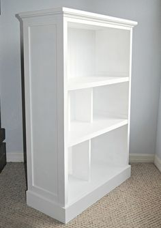 Bookcase-Makeover from old cheap bookcase love to do this for kylie!… Bookcase-Makeover from old cheap bookcase love to do this for kylie! Bookcase-Makeover from old cheap bookcase love to do this for kylie! Refurbished Furniture, Repurposed Furniture, Furniture Makeover, Refurbished Bookcase, Cheap Bookshelves, Old Bookcase, Bookcases, Furniture Projects, Home Furniture