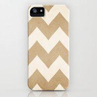 Biscotti & Cream Chevron Iphone Case