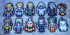 Final Fantasy Wooden Block Sprites.