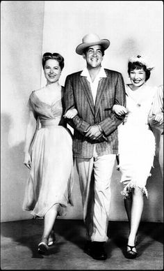 Dean with Martha Hyer and Shirley Mclaine