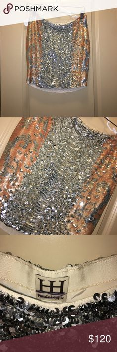 Haute Hippie Sequin Skirt Small New store display has been handled in stores label marked to prevent store returns Haute Hippie Skirts Mini