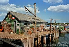 Fishing shack by Christian Delbert, via Dreamstime