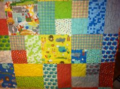 Bungle Jungle Quilt Baby or Toddler by MelanieJayneQuilts on Etsy