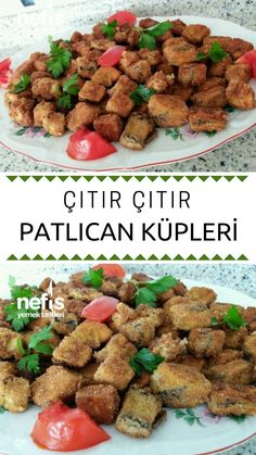 Crispy Eggplant Cubes - Delicious Recipes - My Website 2020 Lunch Recipes, Pasta Recipes, New Recipes, Dinner Recipes, Pasta Carbonara, Dinner For 2, Date Dinner, Cubes, Cube Recipe