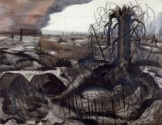 Executed while Nash was commissioned as an official war artist, this drawing was originally titled Wire – the Hindenburg Line and was intended as a prepara...