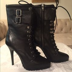 Aldo Black Lace Up Booties Aldo Black Lace Up Booties -  Brand New Booties.  Very sexy and versatile. ALDO Shoes Ankle Boots & Booties