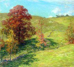 The Red Oak (no.2) - Willard Metcalf