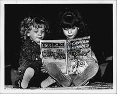 Girls Reading Comic