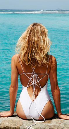 Tie back swimsuit