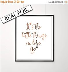 20% OFF Copper foil print Its the little by PeppaPennyPrints